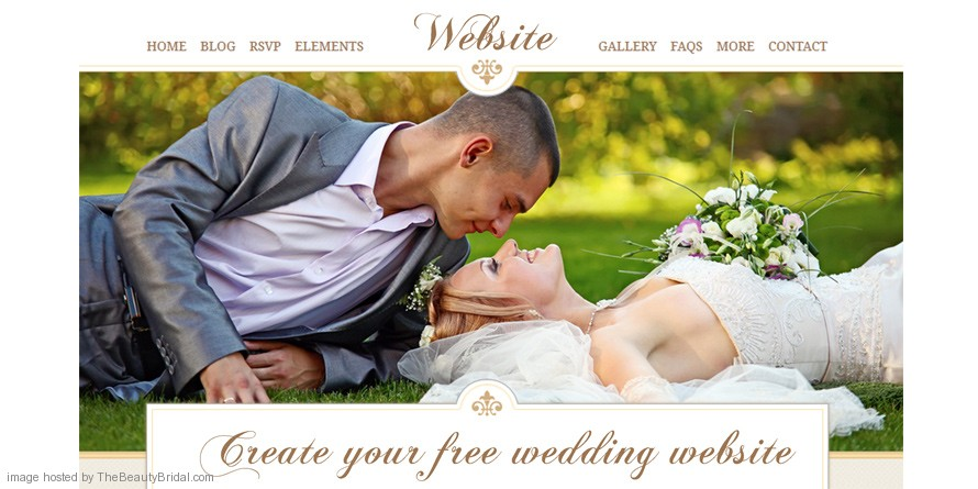 Create your free wedding website